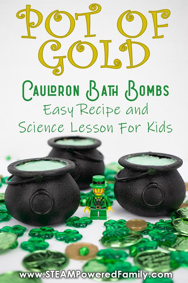 St. Patrick's Day Cauldron Bath Bombs