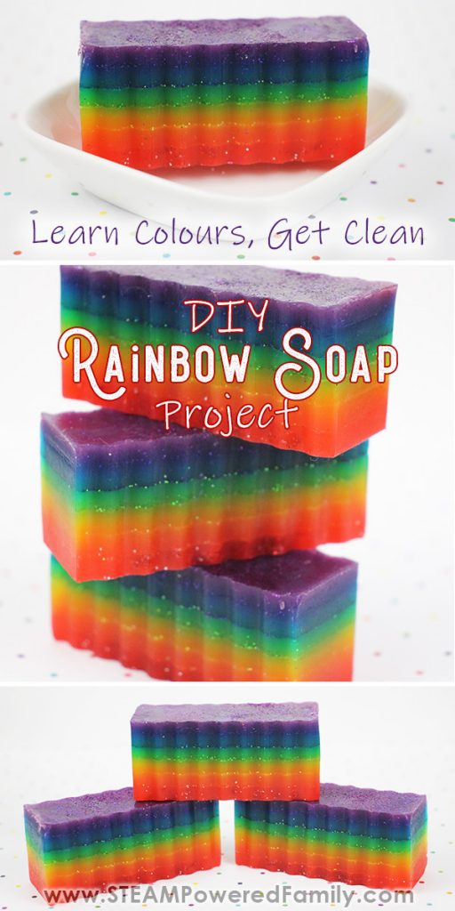 Rainbow Soap Project to Learn Colours