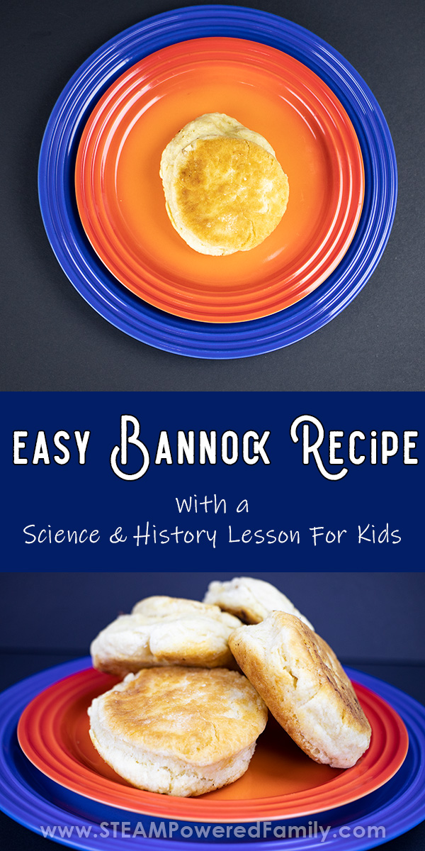 Easy bannock recipe with lesson for kids