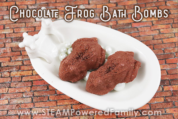 Chocolate Frog Bath Bomb Recipe Inspired by Harry Potter