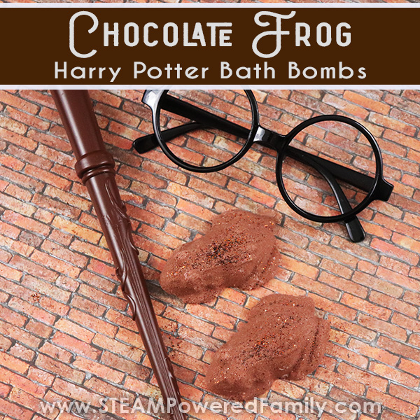 chocolate frog Harry Potter Bath Bomb Recipe