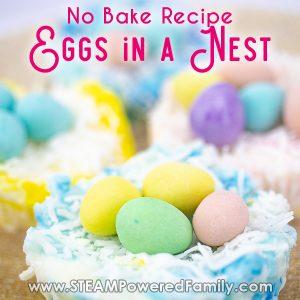 Eggs in a nest no bake coconut ice treats