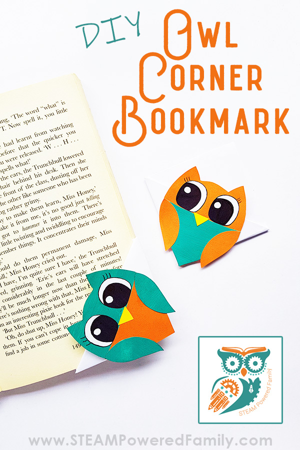 Corner Bookmark Cute Owl Design