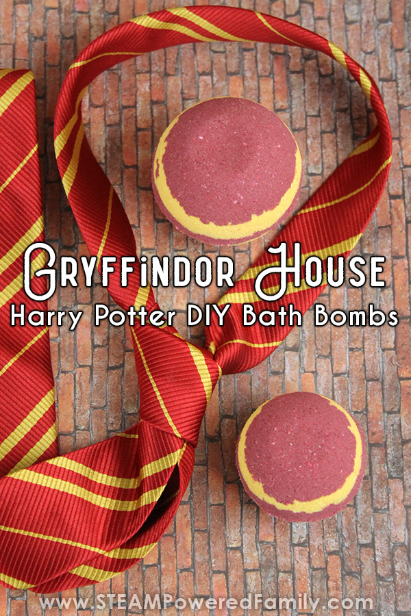 Gryffindor House Harry Potter Bath Bomb Recipe