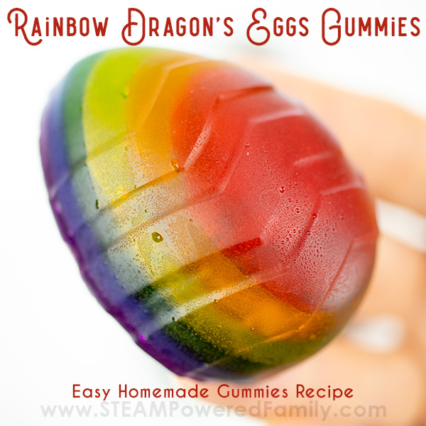Rainbow Homemade Gummy Candy