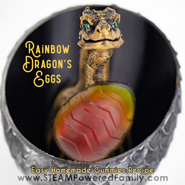 Rainbow Dragon's Egg Homemade Gummies