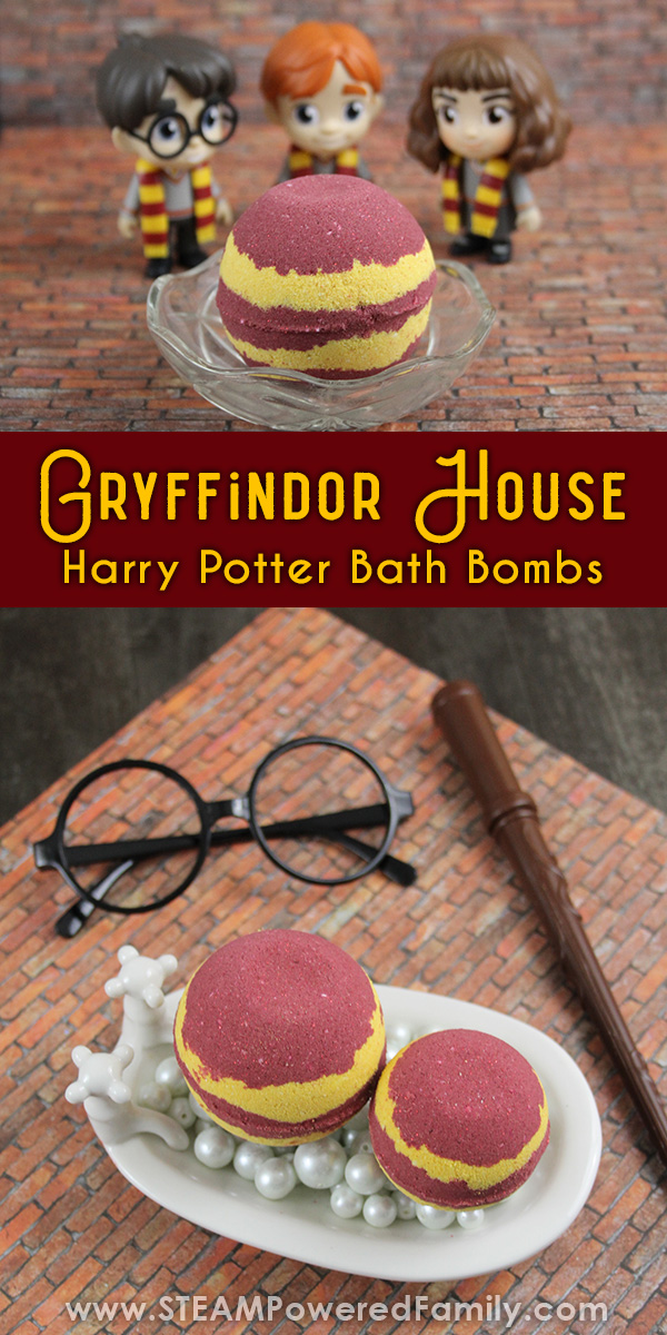 Harry Potter Bath Bombs Gryffindor House