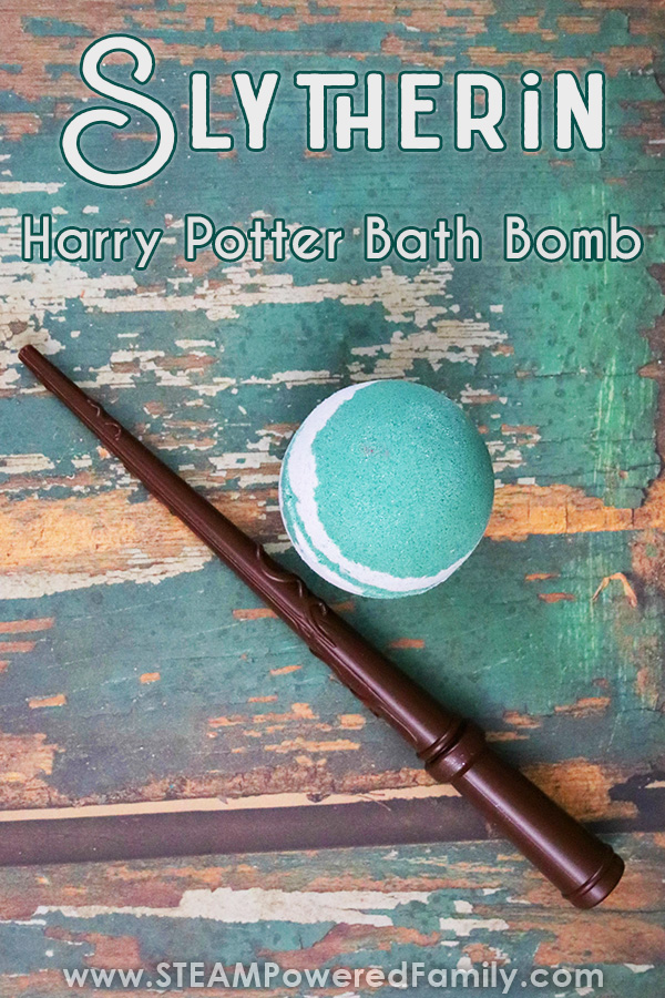 Bath Bomb Recipe for Hogwarts House Slytherin