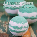 Harry Potter Bath Bomb Recipe for Hogwarts House Slytherin