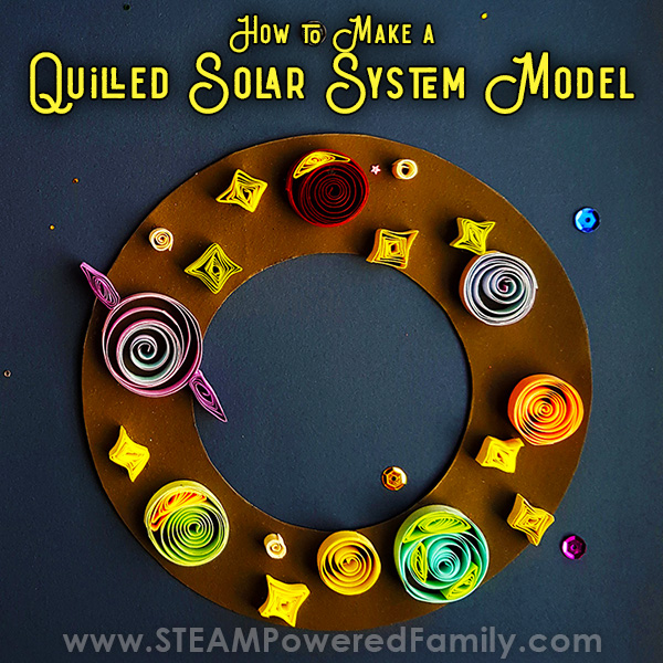 Quilled Solar System Model