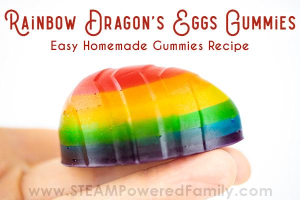 Homemade Gummies - Rainbow Dragon's Eggs