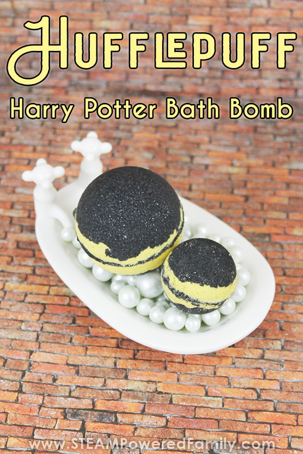 Hogwarts House Hufflepuff Bath Bomb Recipe from Harry Potter