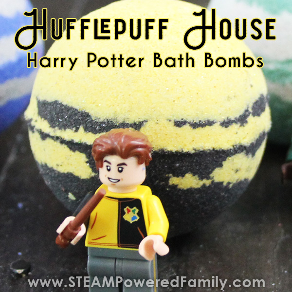 Harry Potter Bath Bomb inspired by Hufflepuff