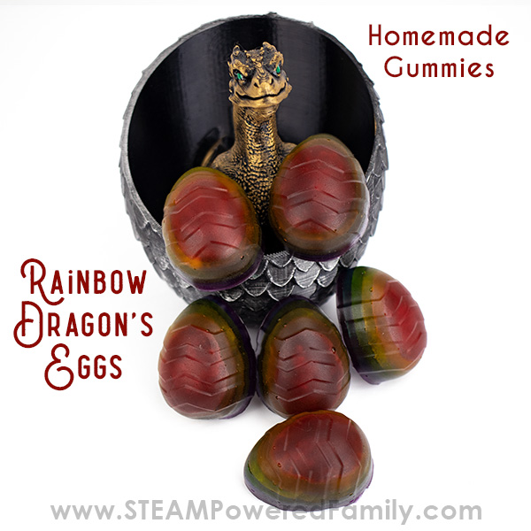 Dragon's Egg Rainbow Homemade Gummies