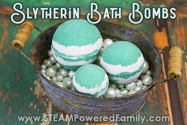 Slytherin House Bath Bomb Recipe from Harry Potter