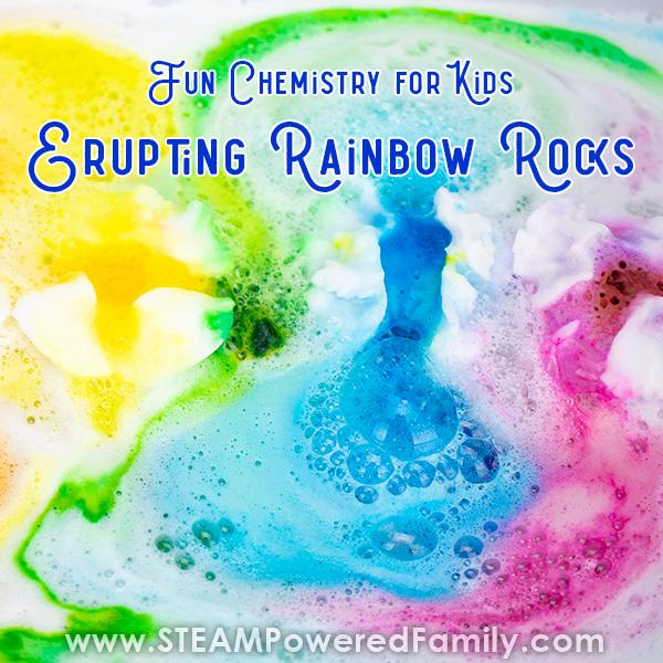 Erupting Surprise Rainbow Rocks