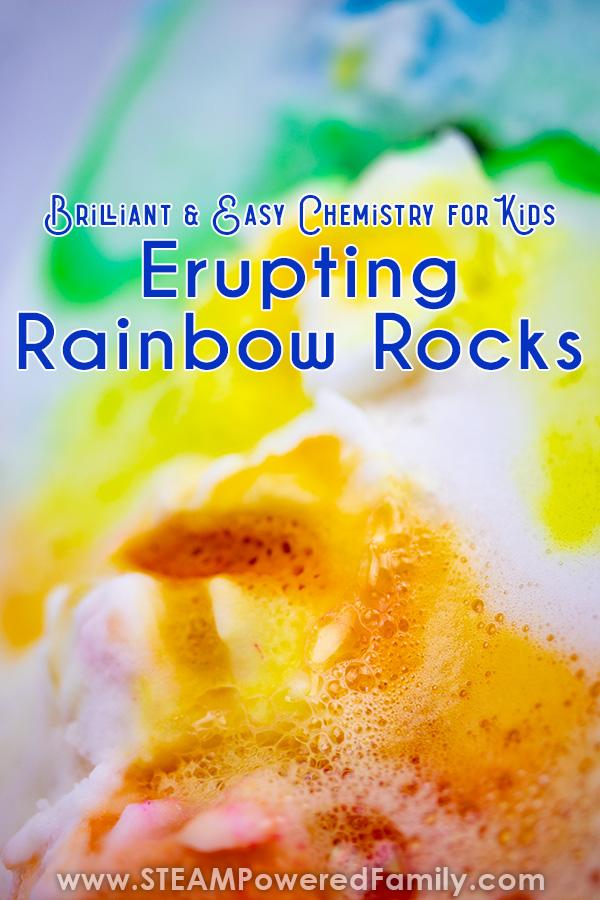 Surprise Erupting Rainbow Rocks Chemistry Experiment