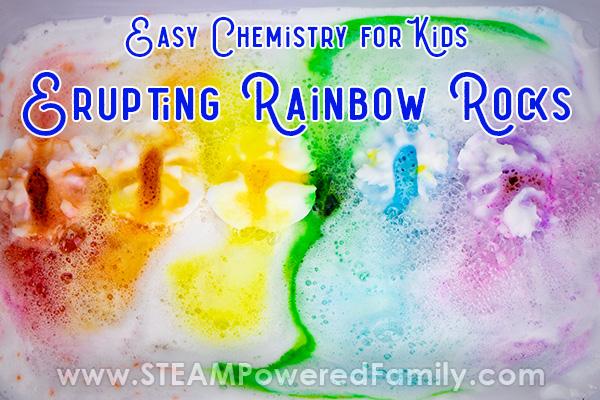 Surprise Erupting Rainbow Rocks