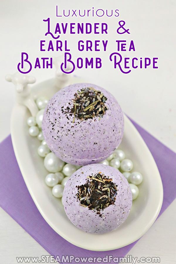 English Bath Bomb Tea and Lavender