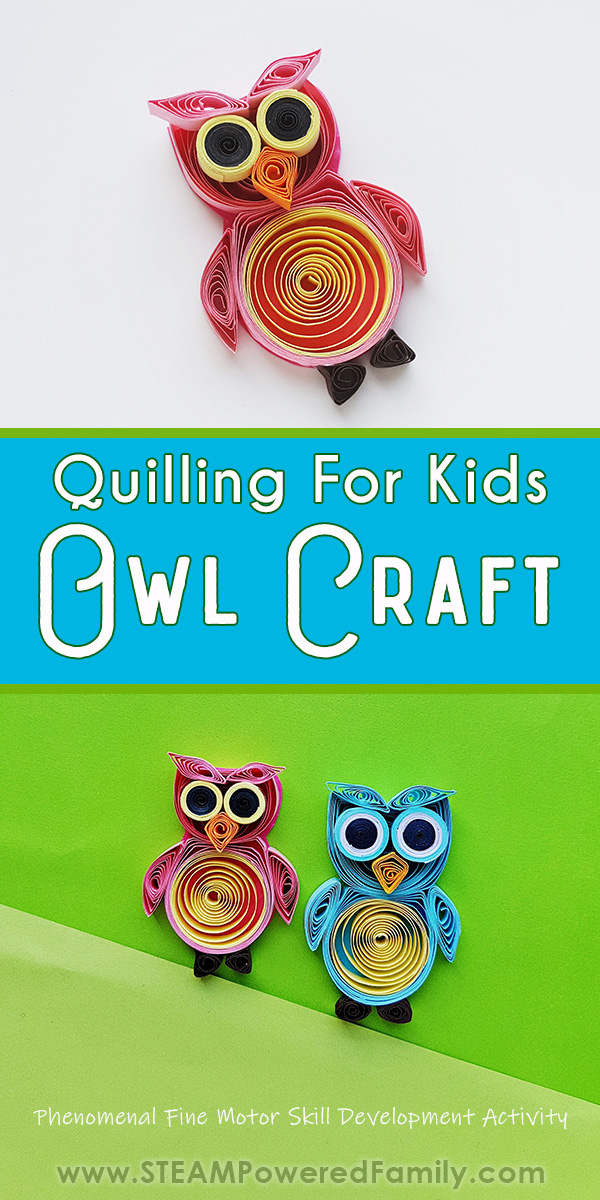 Quilling for Kids Owl Craft