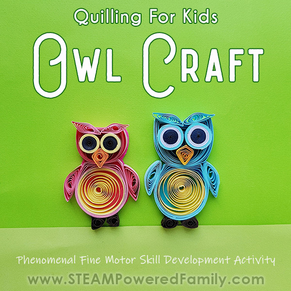 Owl Craft Quilling for Kids