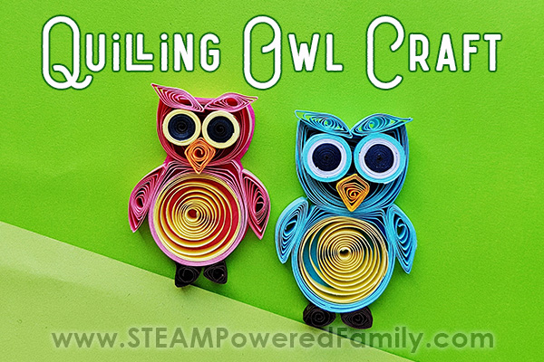 Easy Paper Quilling Owl Craft