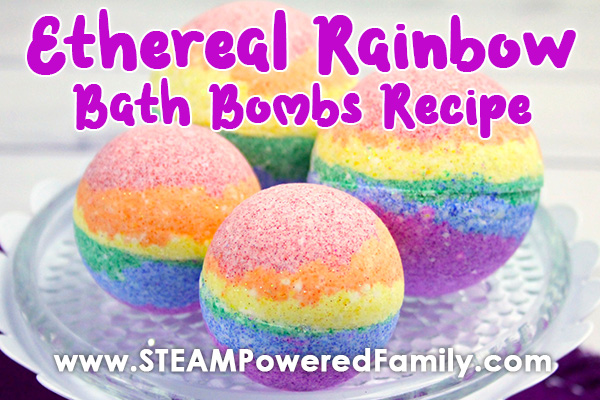 Ethereal Rainbow Bath Bomb Recipe and Science Lesson