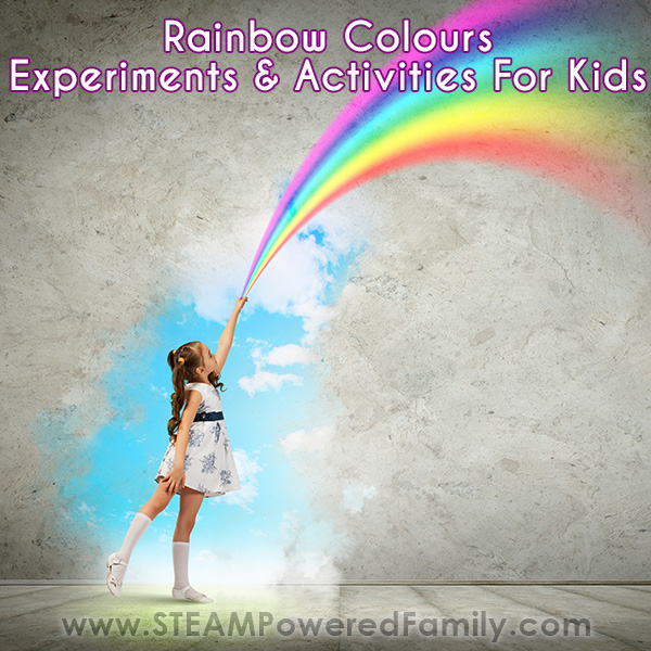 Rainbow science and activities for kids