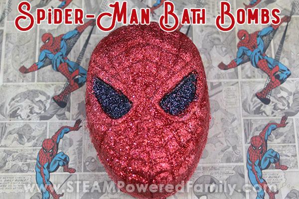 Spiderman bath bombs for boys
