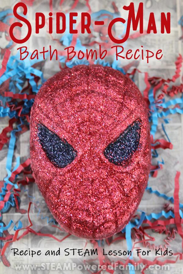 Spiderman bath bomb for boys