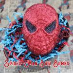 Spiderman bath bomb recipe for kids