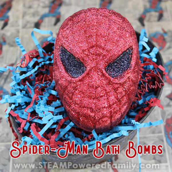 Spiderman bath bomb recipe for kids