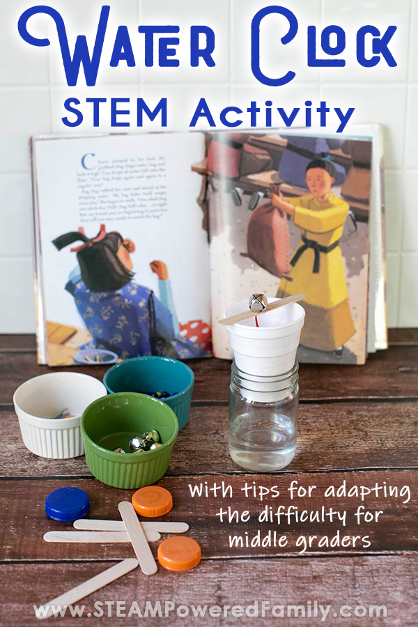 Water Clock STEM Lesson for Kids