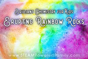 Chemistry for Kids Erupting Rainbow Rocks