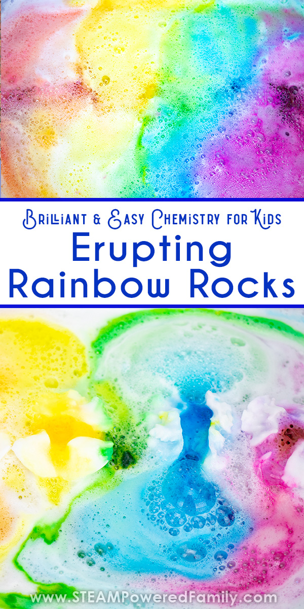 Chemistry for Kids Surprise Rainbow Rocks
