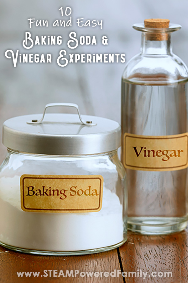 Baking soda and vinegar science experiments