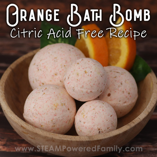Sweet Diy Orange Bath Bombs Citric Acid Free Bath Bomb Recipe