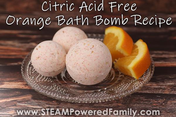 Sweet DIY Orange Bath Bombs – Citric Acid Free Bath Bomb Recipe