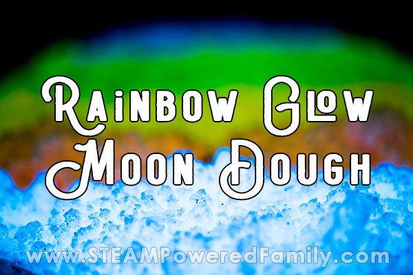 Vibrantly Glowing Moon Dough in the dark