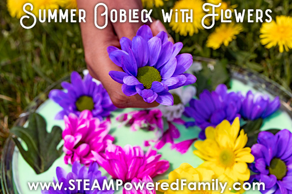 Flower Oobleck Recipe for Outdoor Sensory Science for all ages