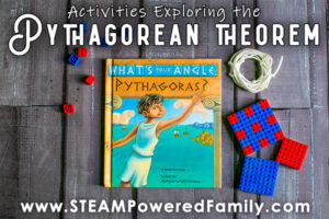 Pythagorean Theorem activities for elementary with Lego and String