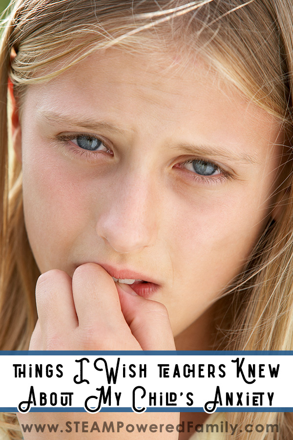 Child with anxiety nervously chewing nails. Things I wish Teachers Knew about my Child's Anxiety