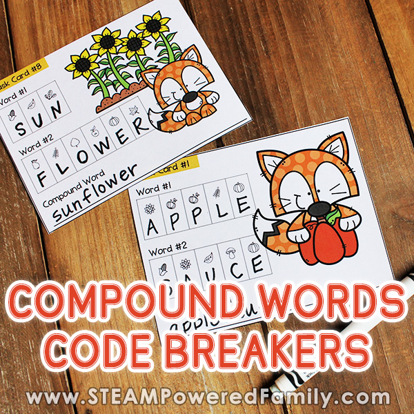 Compound word code breaker activity