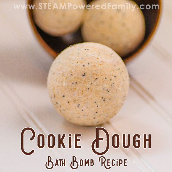Cookie Dough Bath Bombs, kid approved bath bomb recipe with no citric acid