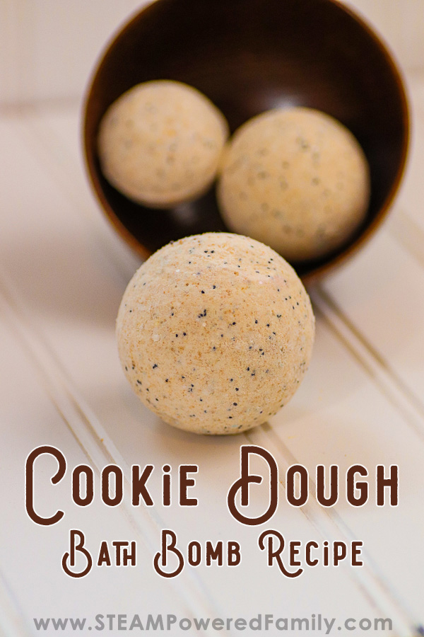 Cookie Dough Bath Bomb Recipe embraces cookies and bath bombs for a project kids love! Includes detailed citric acid free recipe and the science of fizz.