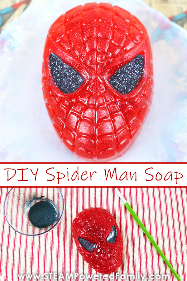 Spider Man Soap Making Project for Kids That is a Zero Waste Crafting Project