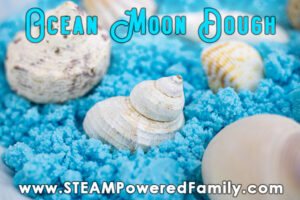 Ocean blue moon dough in a bowl