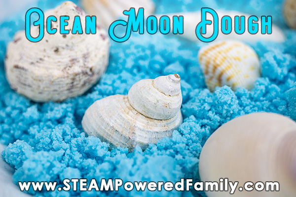 Ocean blue moon dough in a bowl