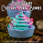 Magical Blue Fairy Cupcake Bath Bombs