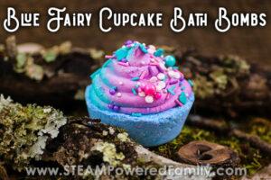 Blue Fairy Cupcake Bath Bombs